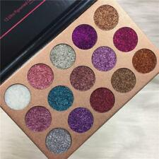 Newly 15 Colors Brighten Diamond Glitter Rainbow Eyeshadow Makeup Palette Dqca