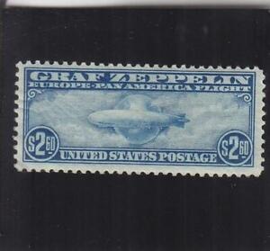 US Airmail: Sc #C-15, $2.60 Zeppelin, MH (40099)