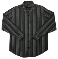 Mens BKE Buckle Button Down Dress Shirt size Large Long Sleeve Striped