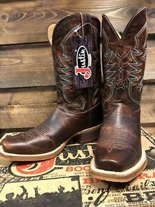 Justin Men's Bent Rail  Cowboy Boots  Size 8 D  Stone Age Cognac,  Last Pair