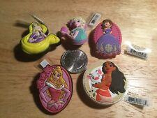 Lot of 5 Crocs Disney Original Jibbitz Shoe Charms Moana Rapunzel  Elsa Aurora