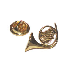 Gold Plated French Horn Musical Instrument Lapel Pin Badge X2AJTP281
