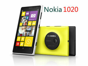 new Nokia Lumia 1020 Mobile Phone -Yellow -White - Black