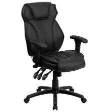 Flash Furniture High Back Leather Executive Office Chair with Triple Paddle Cont