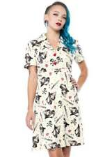 Retro Regular Size Shirt Dresses for Women