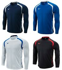 Mizuno Men GAME 19 L/S T-Shirts Jersey Training Navy Soccer Top Shirt P2MA9K5214