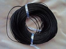 5m Black Real Leather Round Cord Thong. Leather Thickness 2mm.