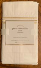 NEW Pottery Barn Grand Embroidered EURO Sham PINEAPPLE GOLD