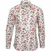 Replay Multicolour Flowers Men's Shirt, White