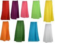 Cotton Saree Women Petticoat Indian Underskirt Skirt Sari Inskirt -Free Shipping