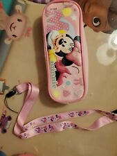 new with no tags girls minnie mouse lanyard and pencil pouch