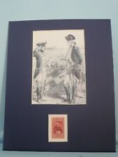 Marquis de Lafayette meets George Washington honored by his own stamp