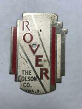 vintage NOS Colson ROVER bicycle Head badge tag antique plate FLAT