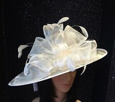 NIGEL RAYMENT IVORY WEDDING ASCOT HAT OCCASION MOTHER OF THE BRIDE FORMAL EVENTS
