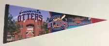 "Frontier League Evansville Otters Baseball Pennant 30"" Minor League"