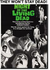Noche de los muertos vivientes de película de terror Art Print 30x40cm