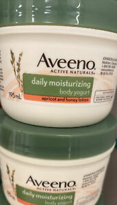 Lot of 2 Aveeno Daily Moisturizing Body Yogurt Apricot Honey Lotion 6.5 oz
