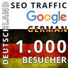 1000 Deutsche German Traffic Website echte Besucher Refferer SEO Google Werbung