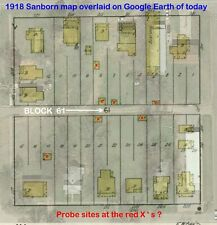 Chickasha, Oklahoma~Sanborn Map© sheets with 82 maps in full color~1894 to 191