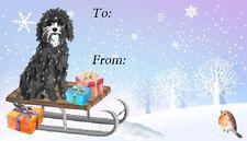 Cavapoo (Black) Dog Christmas Labels By Starprint - 42 Peel Off Labels