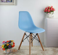 Dining table and clear Eiffel  chairs retro   ,