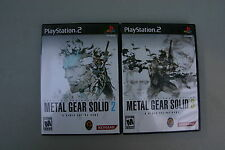 METAL GEAR SOLID 2 SONS OF LIBERTY & SOLID 3 PS2 PLAYSTATION 2 - 2 GAMES CIB