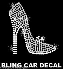 Heels High Heel Shoe Shopping Love AME Rhinestone Bling Car Decal Sticker 50-12