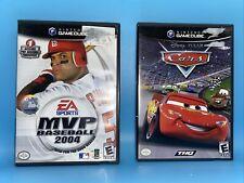 Lot 2 Of Nintendo Gamecube Games- Disney Pixar: Cars & EA Sports MVP Baseball 04