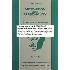 Motivation and Personality by Abraham H. Maslow (1987)(Int' Ed Paperback)3ED