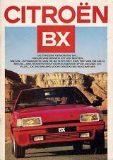 CITROEN BX 1986-87 brochure di vendita sul Mercato olandese berline Break