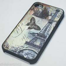 Hard Back Cover Case With Screen Protector For Apple Iphone 4G 4S