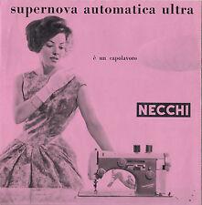 DEPLIANT PUBBLICITARIO MACCHINA CUCIRE NECCHI SUPERNOVA AUTOMATICA ULTRA  9-141
