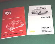 Uso e manutenzione Fiat 500 F + opuscolo 500 R