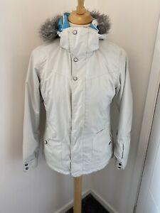 O'Neill Freedom Series White Fur Hooded Snowboard Ski Coat Medium M