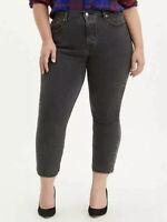 Levi's Women's Plus Size 24 W Black Wedgie Skinny Fit Denim Jeans High Rise