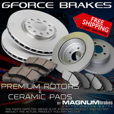 F + R Rotors & Ceramic Pads for 2001-2005 Mercedes Benz C240 w/o Sport Package