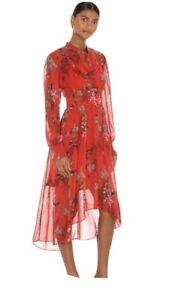 Allsaints Leonie Melisma Dress BNWT size 14 Red
