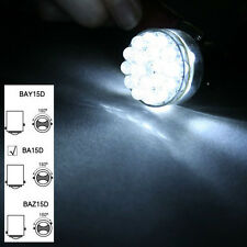 US 2x 6V BA15D 24 SMD LED White Car Bulb Light Brake/Turn/Tail /Reverse Lamp