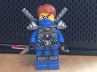 LEGO Jay Rebooted with Stone Armour njo232 Ninjago  Minifigure inc swords