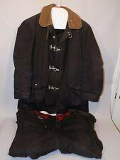 Vintage Globe Firefighter Turnout Bunker Gear Coat Pants Metal Toggles Black 40