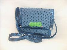 Lollipops Ombrelle Shoulder Sac en toile et Simili Cuir Bleu Irise/ Vert Imprime