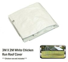 Alphapet 3x2 White Waterproof Chicken Run Coop Cage Replacement Rain Roof Cover