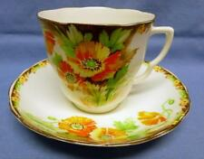 FENTON STOKE ON TRENT ENGLAND RADFORDS BONE CHINA CUP&SAUCER#6862 FLORAL VINTAGE