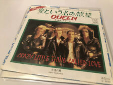 """Queen Crazy Little Thing Called Love Japanese Import 7""""ps Japan Vinyl Excellent"""