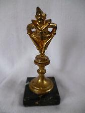 Jugendstil Bronze Figur Skulptur Harlekin Pierrot feuervergoldet