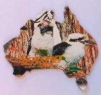 Young NSW Australia Kookaburra Bird Souvenir Magnet Vintage (R11)
