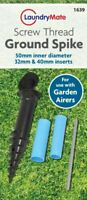 Ground Spike Screw In Base Rotary Clothes Washing Line Parasol Holder Soil Stand