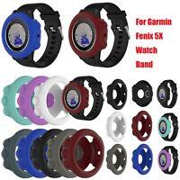 Silicona Banda Funda Correa Cover Case para Garmin Fenix 5X GPS Watch 8 Colors