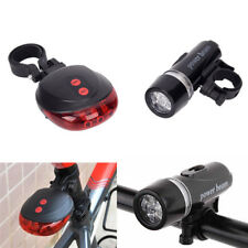Bicycle Rear Light and 5 LED Power Beam Front Light Head Light Torch EX