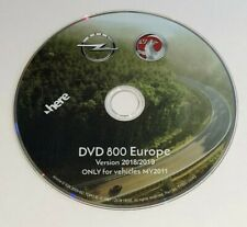 2019 DVD Vauxhall Opel map update disc CD500 DVD800 MY2011 sat nav DVD Europe